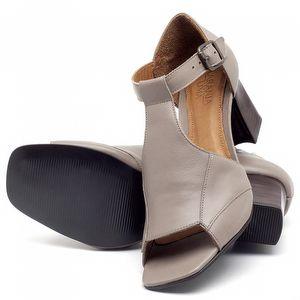 Sandália Salto de 6cm em couro Fendi - Código - 56169