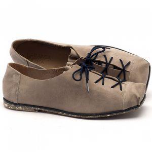 Sapato Fechado Estilo Boho-Chic em couro gray - Código - 145010