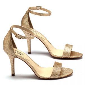 Sandália Salto alto de 9cm em glither dourada - 107396