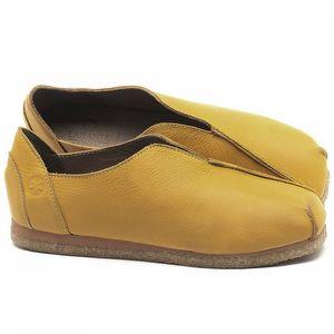 Flat Shoes em couro Amarelo - Código - 3050