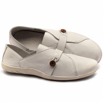 Linhas Flats em couro branco - Código - 145023