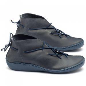 Tênis Cano Alto em couro azul - Código - 139011