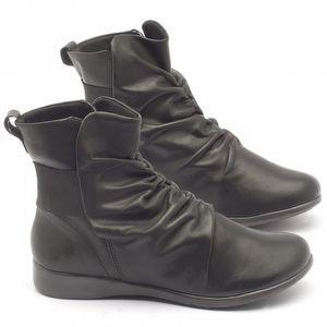 Flat Boot em couro preto - Código - 137108