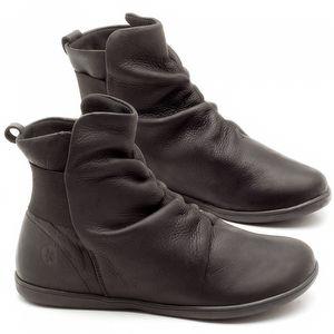Flat Boot em couro Preto - Código - 137171