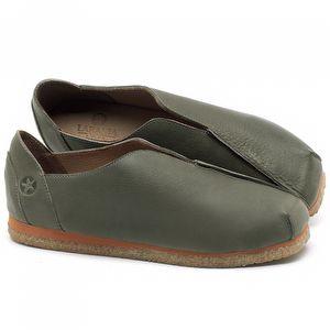 Flat Shoes em couro Verde Musgo - Código - 3050
