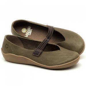 Flat Shoes em couro Musgo - Código - 139025