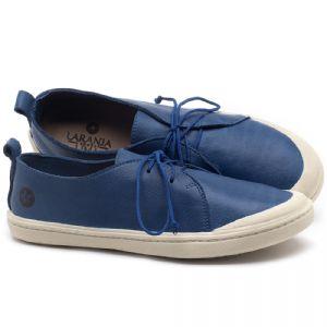 Tênis Cano Baixo em couro Azul Bic - Código - 141076
