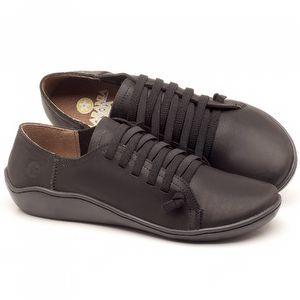 Flat Shoes em couro Preto - Código - 139027