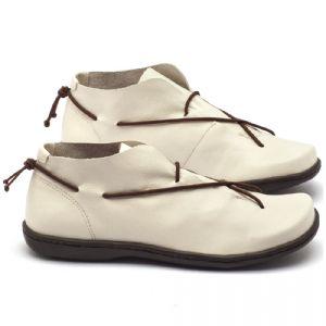 Tênis Cano Baixo em couro branco - Código - 56134