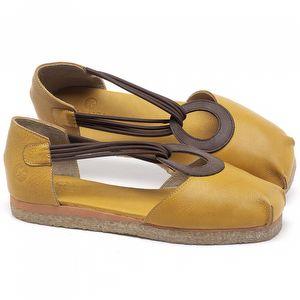 Sapatilha Alternativa em couro Amarelo - Código - 3057