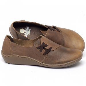 Flat Shoes em couro Caramelo - Código - 139022