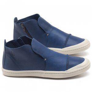 Tênis Cano Alto em couro azul - CÓDIGO - 141074
