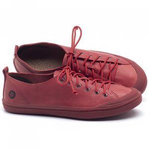 Tênis Cano Baixo em couro Vermelho - Código - 141112