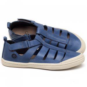 Tênis Cano Baixo em couro Azul - Código - 141144