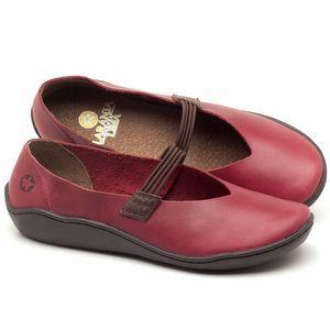 Flat Shoes em couro Vermelho - Código - 139026