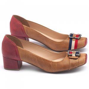 Sapato Fechado Estilo Foucinho de porco de 4cm em couro - Código - 9407