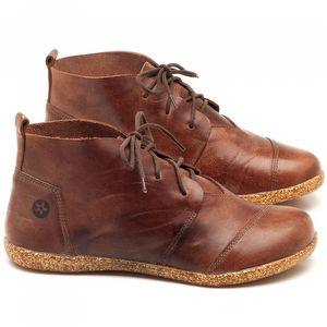 Flat Boot em couro Marrom - Código - 137155