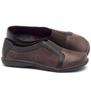 Flat Shoes em couro Marrom - Código - 56087