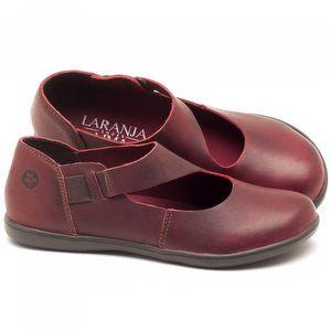 Flat Shoes em couro Vinho - Código - 137167
