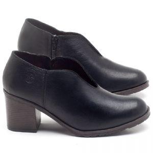 Sapato Fechado Estilo Boho-Chic em couto Preto - Código - 137242