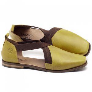 Sapatilha Alternativa em couro Amarelo - Código - 136084