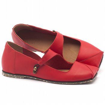 Sapatilha Alternativa em couro vermelho - Código - 145007