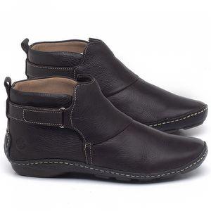 Flat Boot em couro Marrom Chocolate - Código - 136031