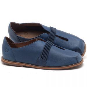 Flat Shoes em couro Azul - CÓDIGO - 3053
