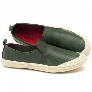 Tênis Cano Baixo em couro verde - Código - 141050
