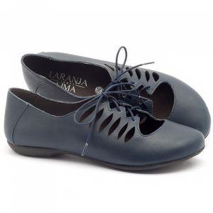 Sapatilha Bico Fechado em couro azul - Código - 148001