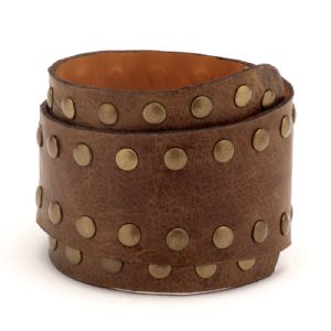 Feminino - Braceletes Caramelo Rebites 134003
