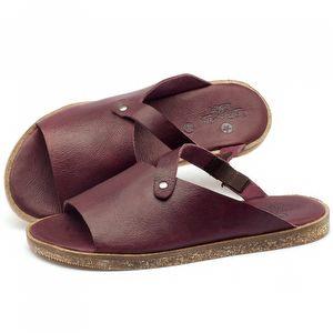 Rasteira Flat em couro roxo - Código 141056