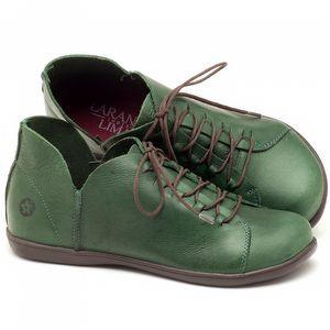 Tênis Cano Baixo em couro verde militar - Código - 137033