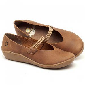 Flat Shoes em couro Marrom Tan - Código - 139026