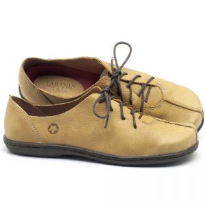 Flat Shoes em couro Amarelo - Código - 56188