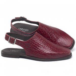 Mocassim Classic em couro Vermelho - Código - 136085