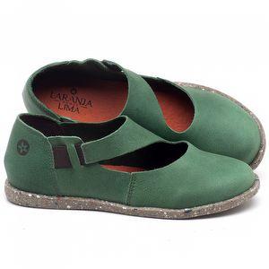 Flat Shoes em couro Verde Bandeira - Código - 137222