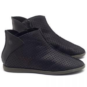 Flat Boot em couro Preto - CÓDIGO - 137236