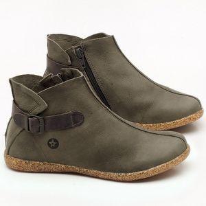 Flat Boot em couro Musgo - Código - 137144