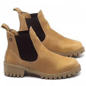 Bota Cano Curto em couro Amarelo - Código - 137265