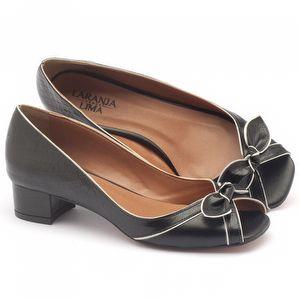 Peep Toe Salto Baixo de de 4cm - Código - 3473