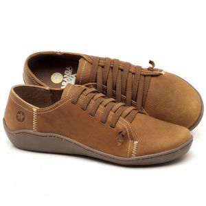 Flat Shoes em couro Caramelo - Código - 139027