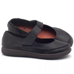 Flat Shoes em couro preto - CÓDIGO - 137233