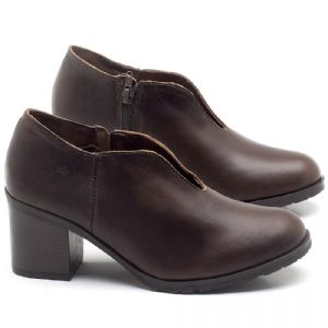 Sapato Fechado Estilo Boho-Chic em couro Marrom Tan - Código - 137242