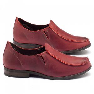 Sapato Retro Estilo Boho-Chic em couro vermelho - Código - 137093