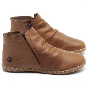 Flat Boot em couro Whisky - Código - 137147