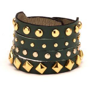 Feminino - Braceletes Verde Militar Enfeites em abs 134004
