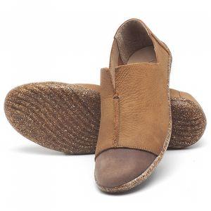 Flat Shoes em couro Carvalho - Código - 145025