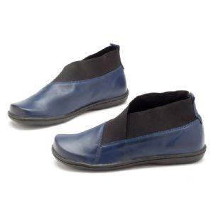 Bota Cano Curto Azul Marinho com elástico na boca 56078