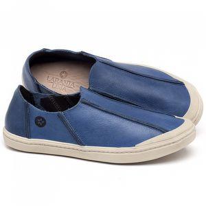 Tênis Cano Baixo em couro Azul - Código - 141148
